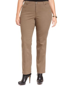 Style & Co. Plus Size Tummy-Control Straight-Leg Pants