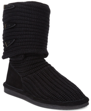 Bearpaw Knit Tall Cold Weather Boots Womens Shoes
