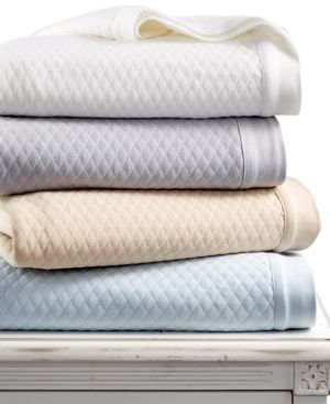 Martha Stewart Collection Quilted Triple Knit Full/Queen Blanket Bedding