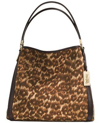 Madison Phoebe Shoulder Bag In Ocelot Print Fabric 29