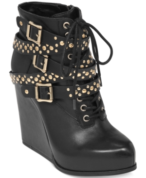 BCBGeneration Larissa Platform Wedge Booties Women's Shoes
