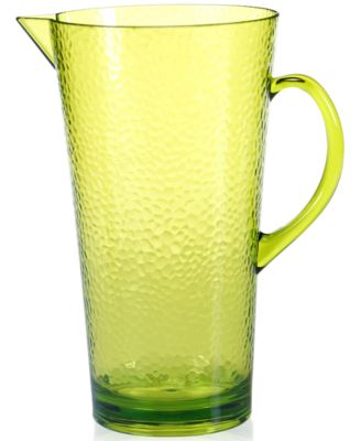 Certified International Lime Green Acrylic Pitcher