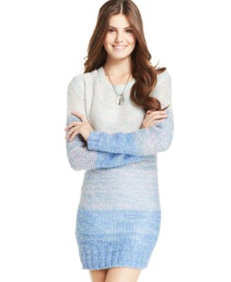 Ultra Flirt Juniors' Ombre Sweater Dress