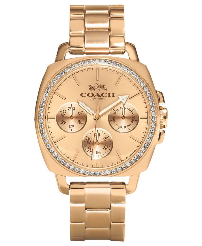 COACH - WOMEN'S ROSE GOLD-PLATED BRACELET WATCH 40MM 14502081