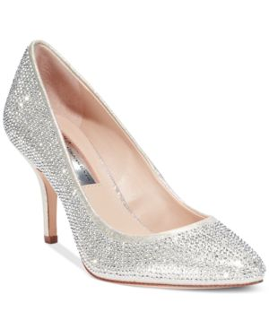 Inc International Concepts Zitah Pointed Toe Rhinestone Evening Pumps Women's Shoes thumbnail