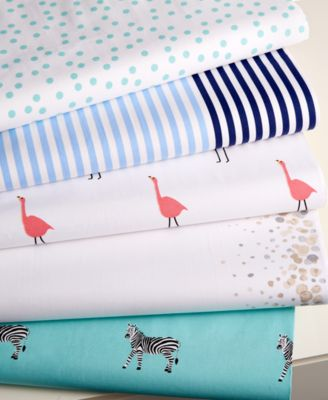 CLOSEOUT! Whim by Martha Stewart Collection Novelty Print Cotton Percale Full Sheet Set, Only at Macy's