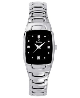 Bulova Watch, Women's Stainless Steel Bracelet 96P15