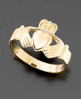 Men's 14k Gold Claddagh Ring