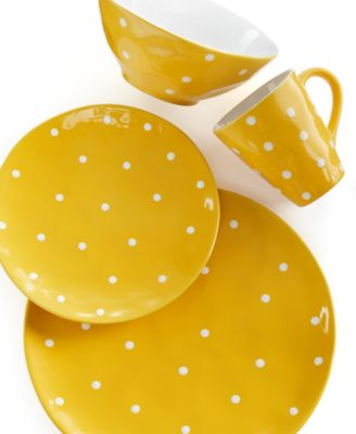 Maxwell & Williams Sprinkle Yellow 4-Piece Place Setting