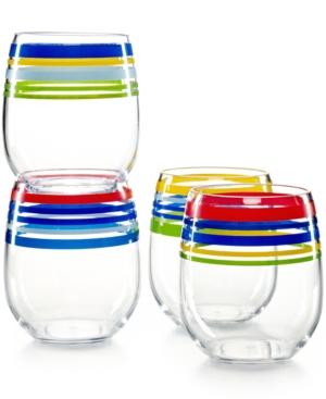 Upc 689439440542 martha stewart collection set of 4 for Martha stewart christmas wine glasses