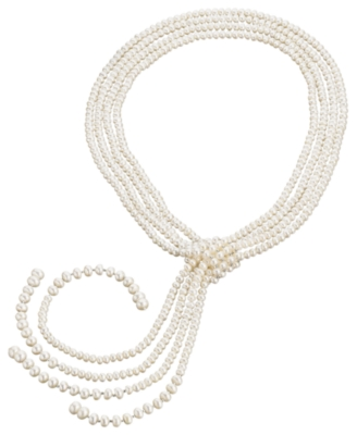Cultured Freshwater Pearl Lariat Necklace