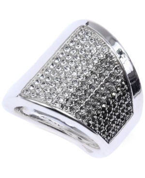 Judith Jack Sterling Silver Crystal (9/10 ct. t.w.) and Marcasite (4/5 ct. t.w.) Pave Ring