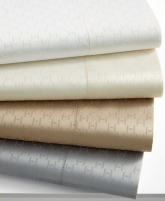 "Hotel Collection Pair of 600 Thread Count ""H"" Dobby Standard Pillowcase"
