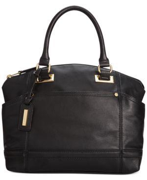 Tignanello Pretty Pockets Smooth Leather Convertible Satchel