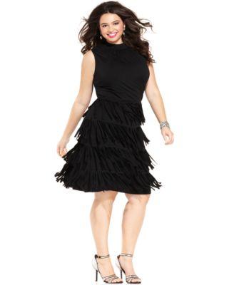 Plus Size Fringe Dresses - Formal Dresses