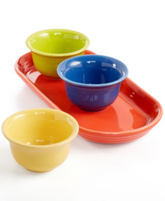 Fiesta Mixed Colors 4-Piece Entertaining Set