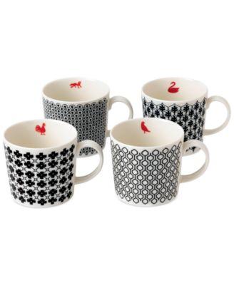 Royal Doulton Foulard Star Mugs, Set of 4