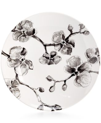 MADHOUSE by Michael Aram Black Orchid Melamine Dinner Plate