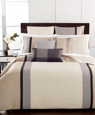 Hotel Collection Manhattan Stripe Queen Comforter