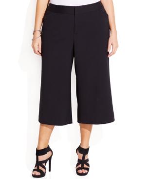 INC International Concepts Plus Size Gaucho Dress Pants