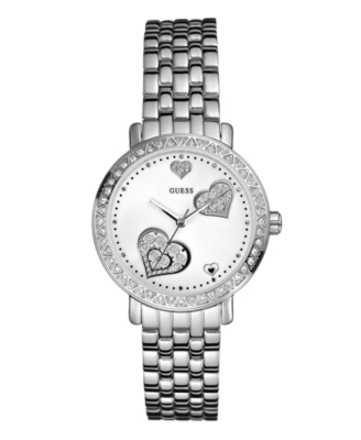 GUESS Watch, Women's Stainless Steel Bracelet G86112L - Sterling Bracelet Watch