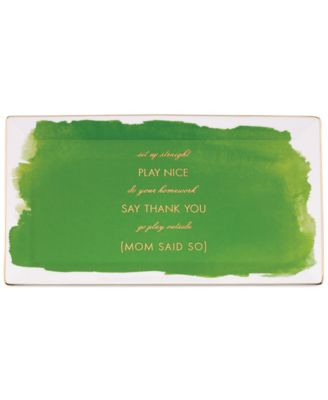 kate spade new york Posy Court Green Rectangular Tray