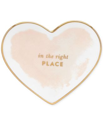 kate spade new york Posy Court Small Blush Heart Dish