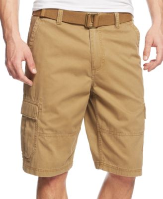 Image of American Rag Men's Belted Relaxed Cargo Shorts