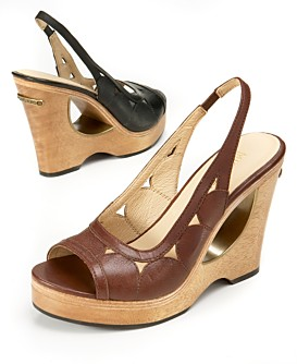Kors Cutout Wedges