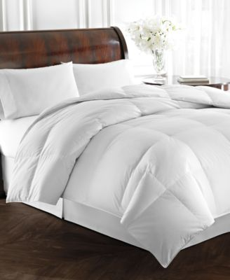 Lauren Ralph Lauren Heavyweight White Goose Down Full/Queen Comforter, 500 Thread Count 100% Cotton Dobby Stripe Cover, Baffle Box Construction