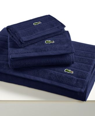 "Lacoste Croc Solid 13"" Square Washcloth"
