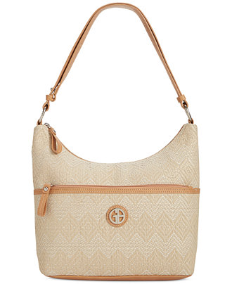 Giani Bernini Patterned Straw Hobo