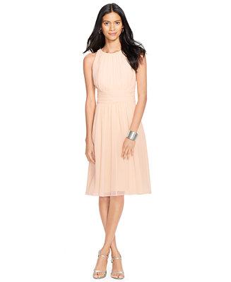 Lauren Ralph Lauren Ruched Sleeveless Dress Dresses