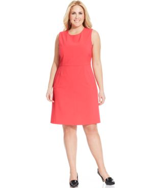 Nine West Plus Size A-Line Pocket Dress