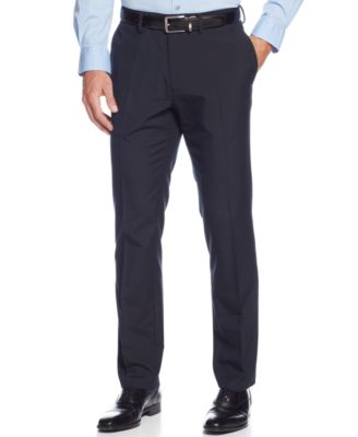 Kenneth Cole Reaction Slim-Fit Windowpane Dress Pants