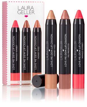 Laura Geller Love Me Dew Lip Crayon Trio