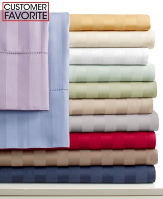 CLOSEOUT! Charter Club Damask Stripe 500 Thread Count Pima Cotton Queen Sheet Set, Only at Macy's