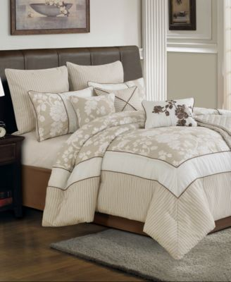 CLOSEOUT! Lara 10 Piece King Comforter Set