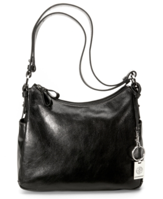 Giani Bernini Handbag, Glazed Leather Hobo, Medium - Leather Hobo Bag