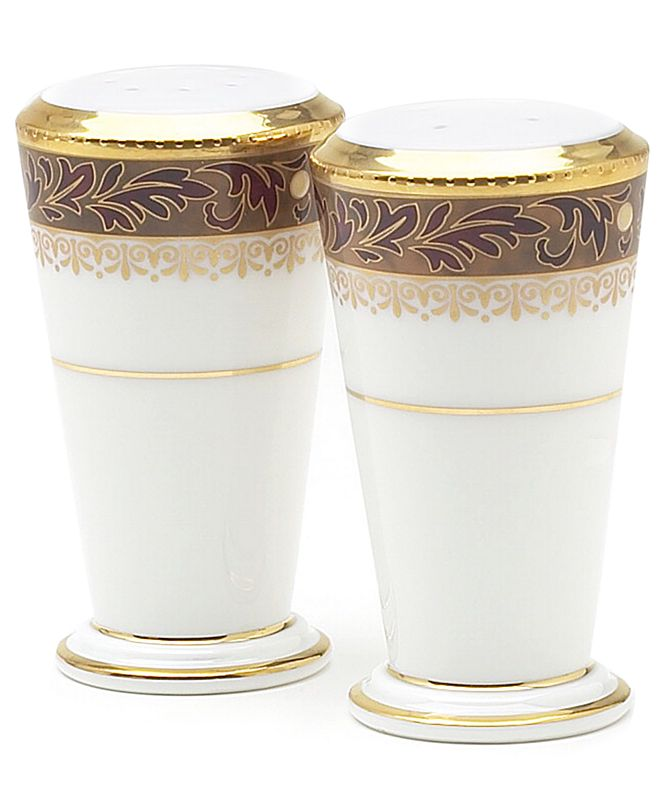 "Noritake ""Xavier Gold"" Salt and Pepper Set, 3 3/4"""