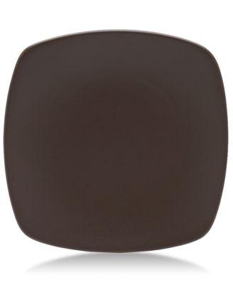 """Noritake """"Colorwave Chocolate"""" Medium Quad Plate, 10 3/4"""""""