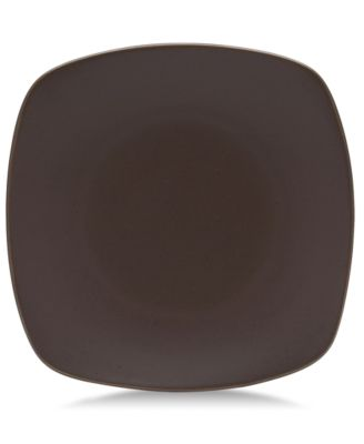 "Noritake ""Colorwave Chocolate"" Small Quad Plate, 8 1/4"""
