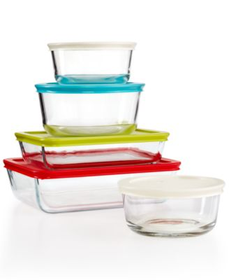 Pyrex 10-Piece Simply Store Set with Colored Lids, Only at Macy's