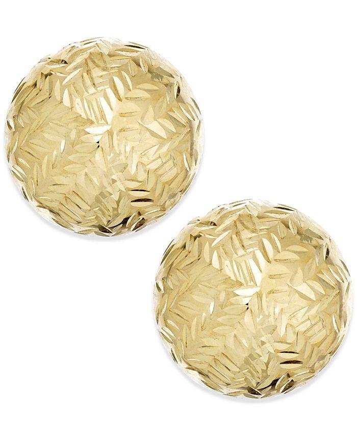 Macy's - Chevron-Cut Stud Earrings in 14k Gold