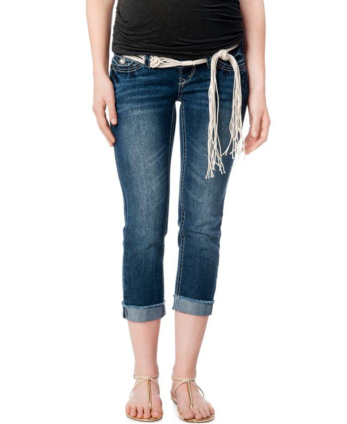 WallFlower - Maternity Secret Fit Belly® Belt Boyfriend Jeans, Medium Wash