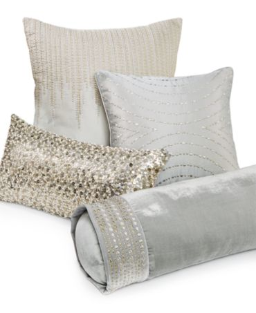 Hotel Collection Mulberry Decorative Pillows : Hotel Collection Finest Silver Leaf Decorative Pillow Collection - Decorative Pillows - Bed ...