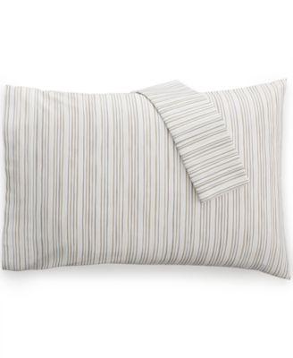 Bar III Brush Stroke Stripe Pair of Standard Pillowcases