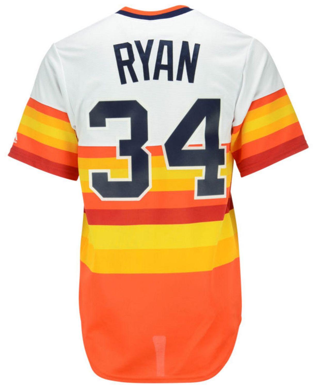 Majestic Reid Ryan Houston Astros Cooperstown Replica Jersey & Reviews - Sports Fan Shop By Lids - Men - Macy's