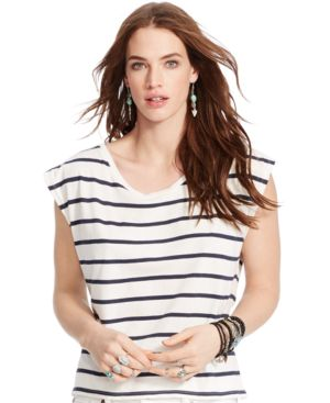 Denim & Supply Ralph Lauren Striped Tie-Back Tee