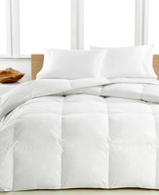 Medium Warmth Down Twin Comforter, Premium White Down Fill, 100% Cotton Cover